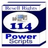 Thumbnail 114 Power Scripts With Master Resale Rights!