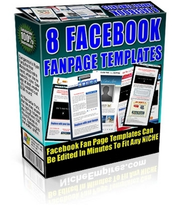 Product picture Facebook Fanpage Templates with Plr