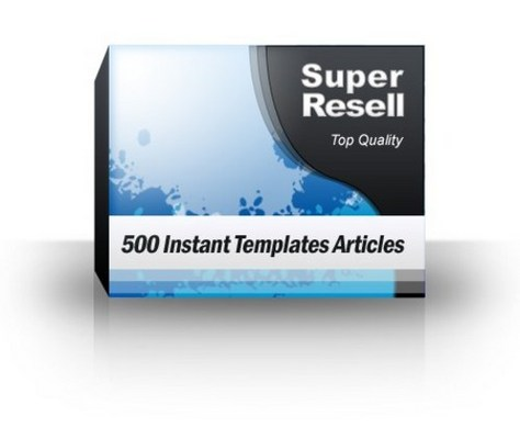 Product picture 500 Instant Templates Articles with PLR!