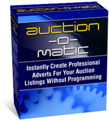 Product picture Auction-o-matic: Auction Software - Master Resell Rights!