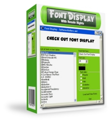 Product picture Font Display Software With Master Resale Rights!