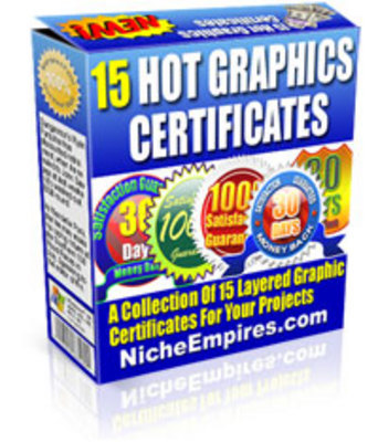 Product picture 15 Hot Graphics Certificates PLR!