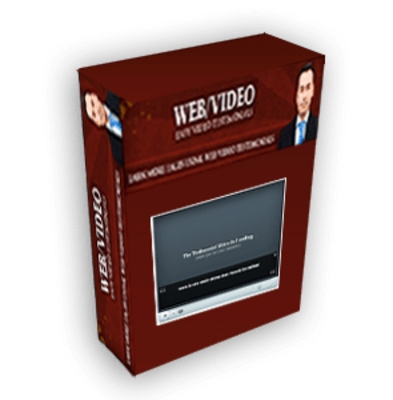 Product picture Web Video Testimonial Software PLR!