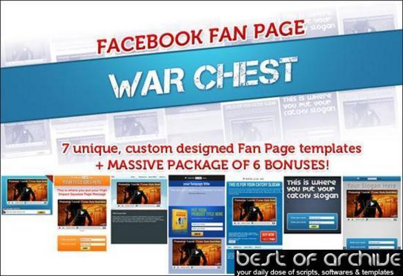 Product picture Facebook Fanpage Warchest With Videos And Bonus PLR!